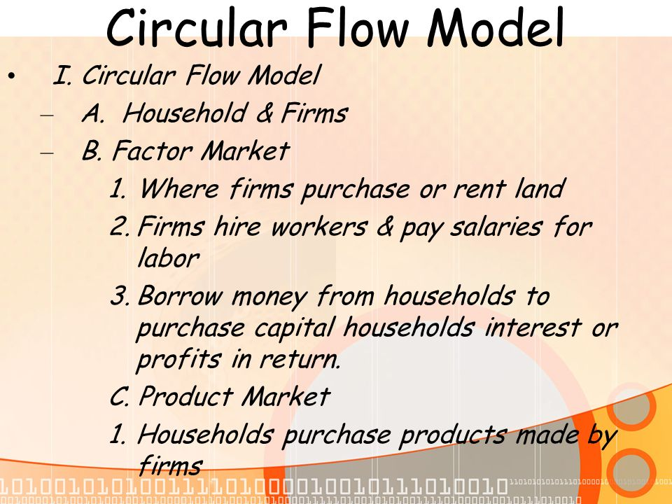 in the circular flow model there is a flow of