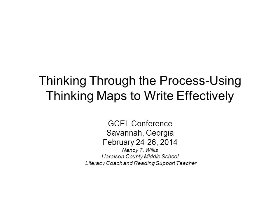 Thinking Through the Process-Using Thinking Maps to Write