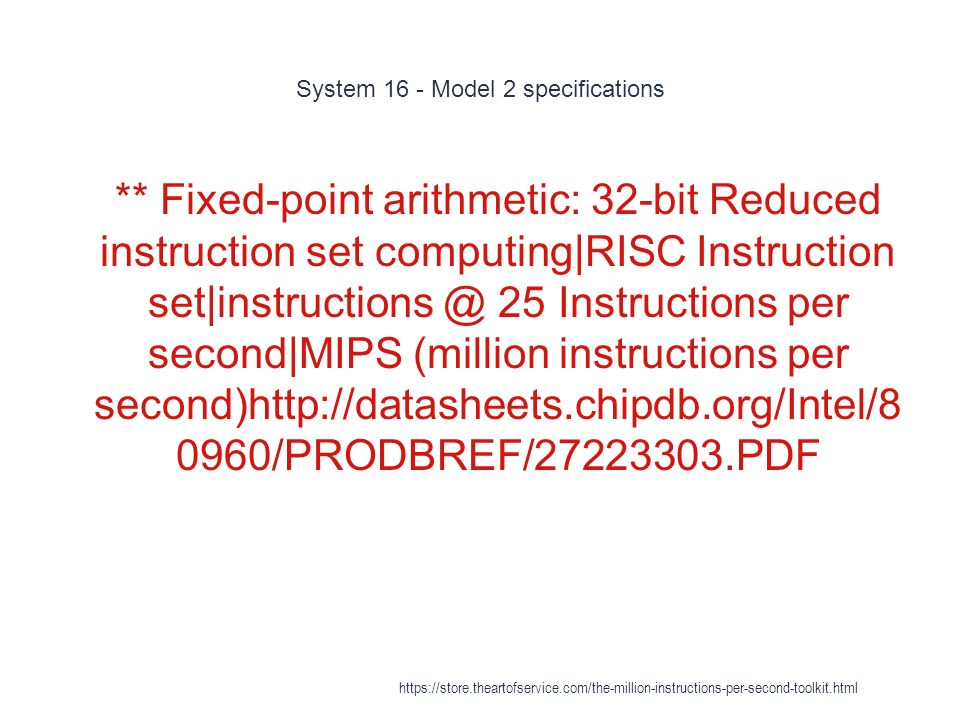 Million Instructions Per Second Ppt Download