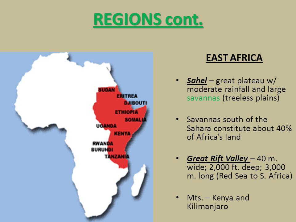 Map Of Africa Land Features.Africa Geography 2 Nd Largest Continent Behind Asia 3 Times