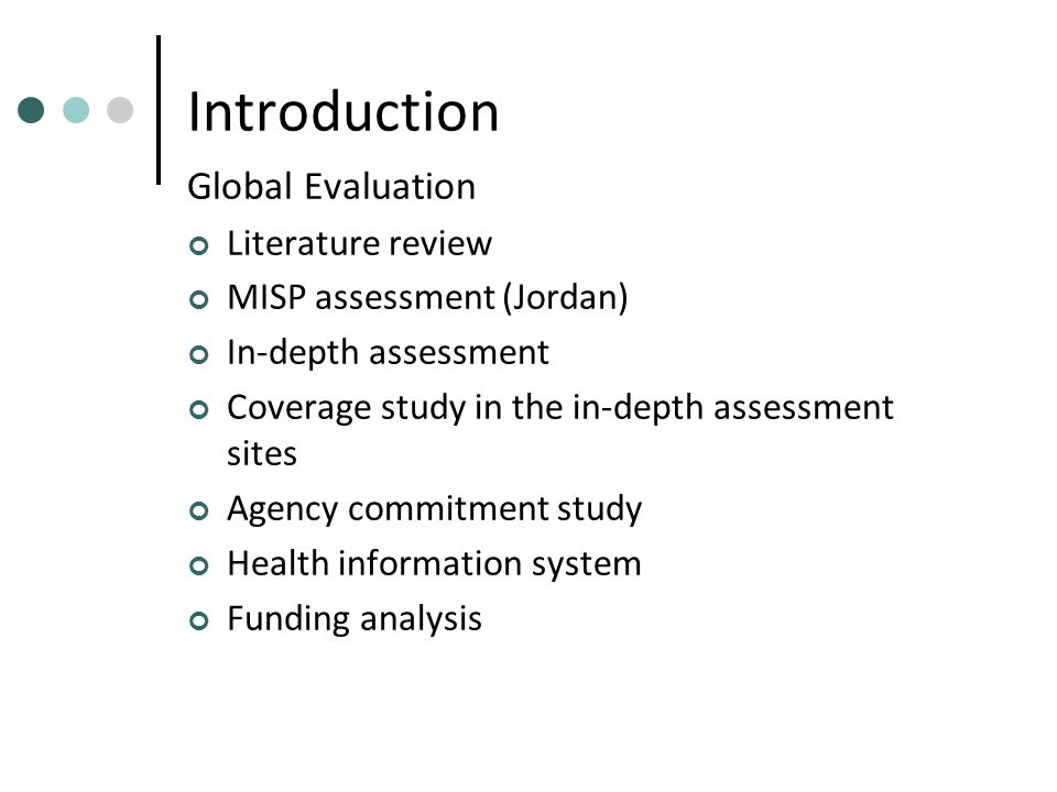 Evaluation of the Implementation of the Minimum Initial