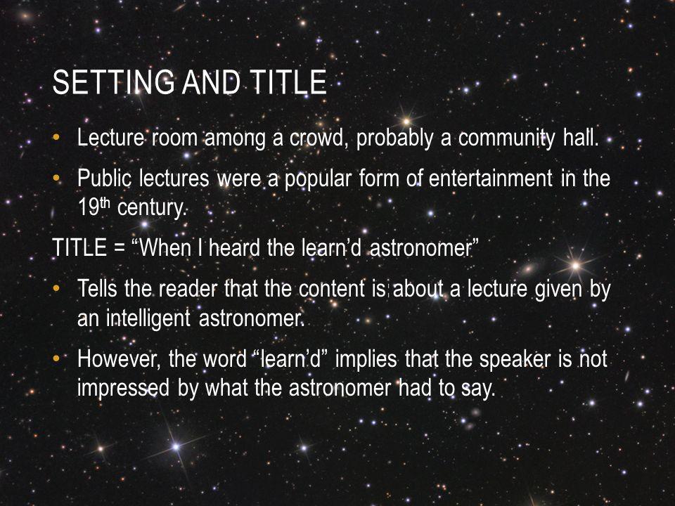 heard the learn astronomer