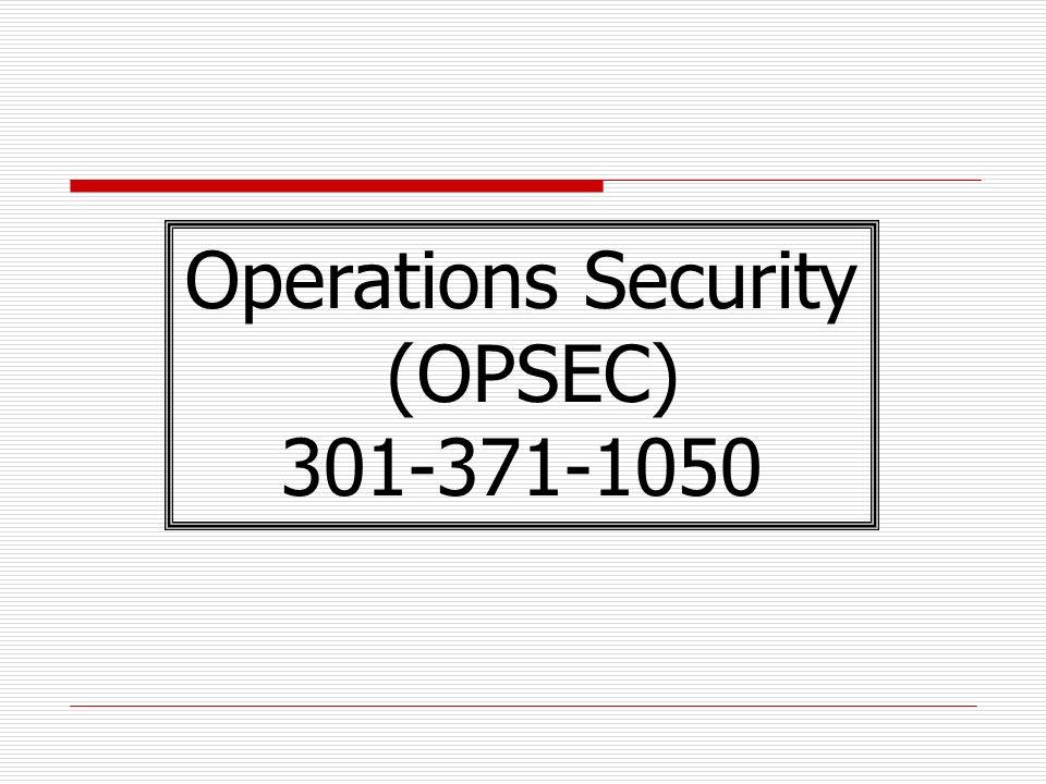opsec indicators