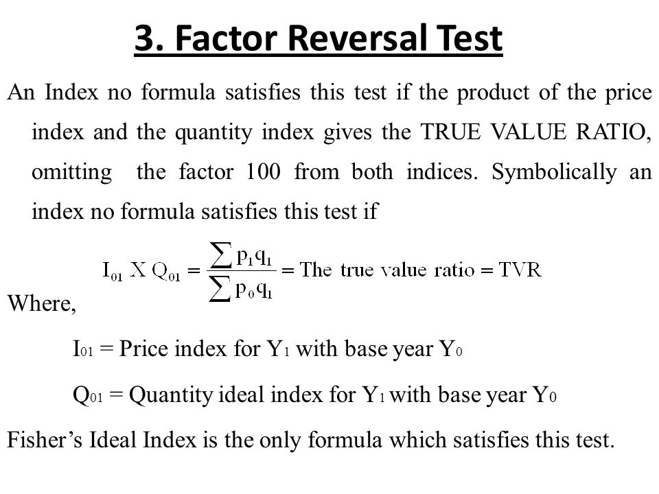 Index Numbers. Fro measuring changes in a variable or a group of ...
