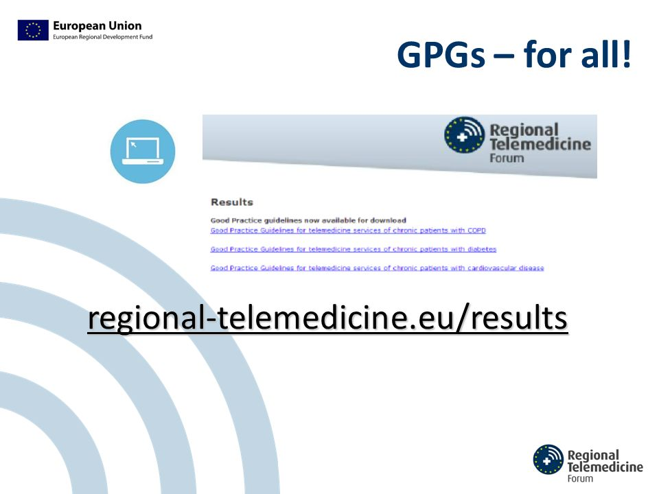 GPGs – for all! regional-telemedicine.eu/results