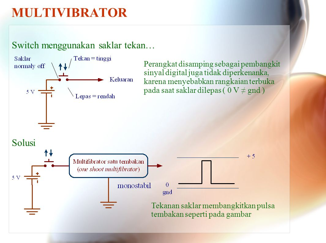 Multivibrator Individual Sequential Logic Circuits Can Be Used To Astable Flipflop Circuit Oscillatorcircuit Signal 7 Switch Menggunakan