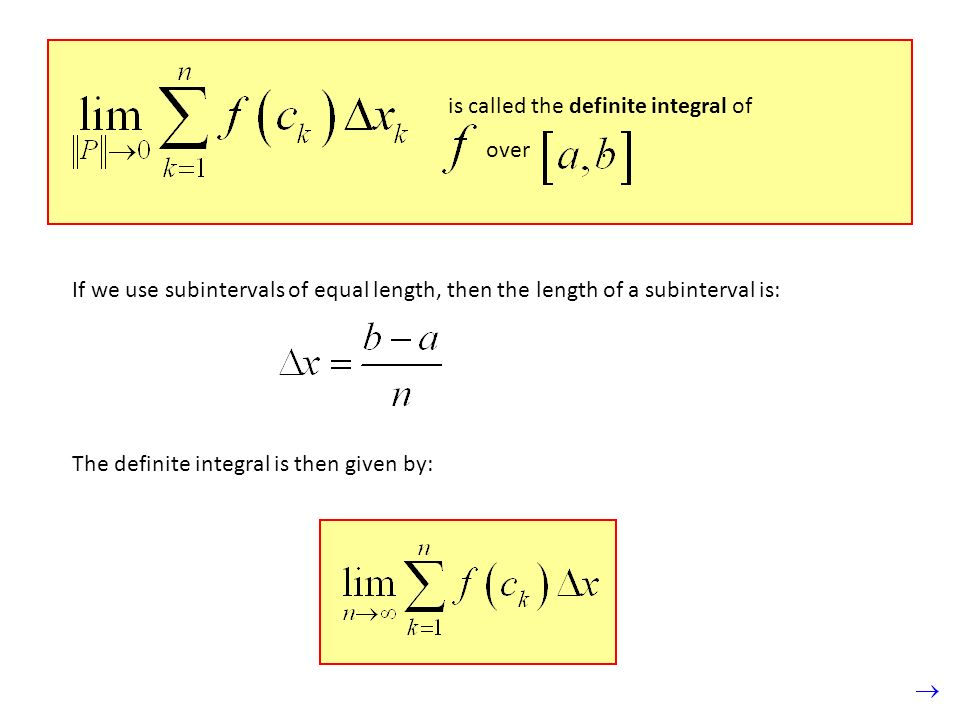 is called the definite integral of over.