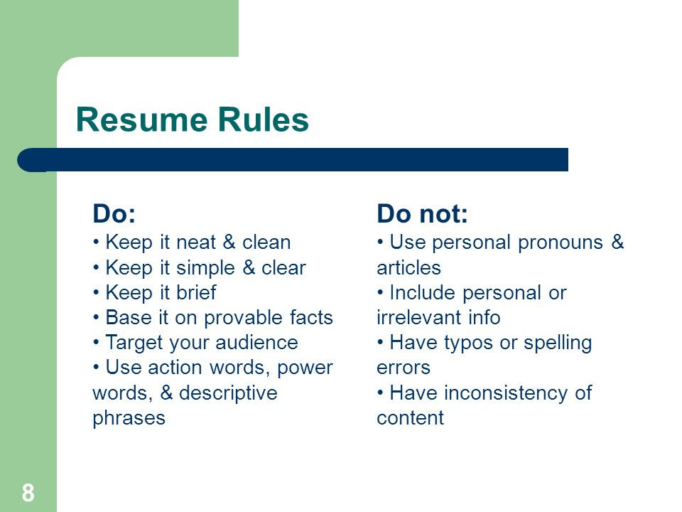 1 Resume Writing Cerritos College Career Services Created By Traci
