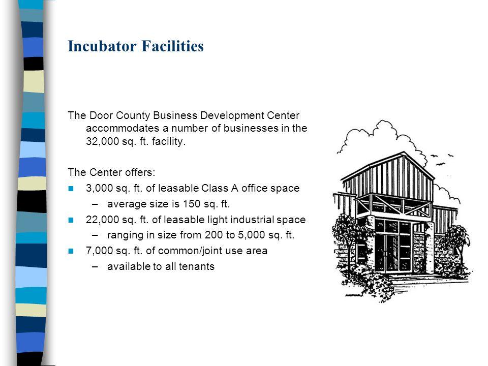 3 Incubator Facilities ...