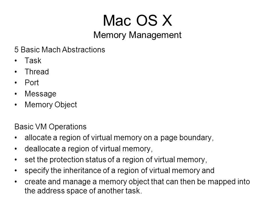 Mac OS X Stephen Ayers David Der Nathan Henkel Dan Hodos