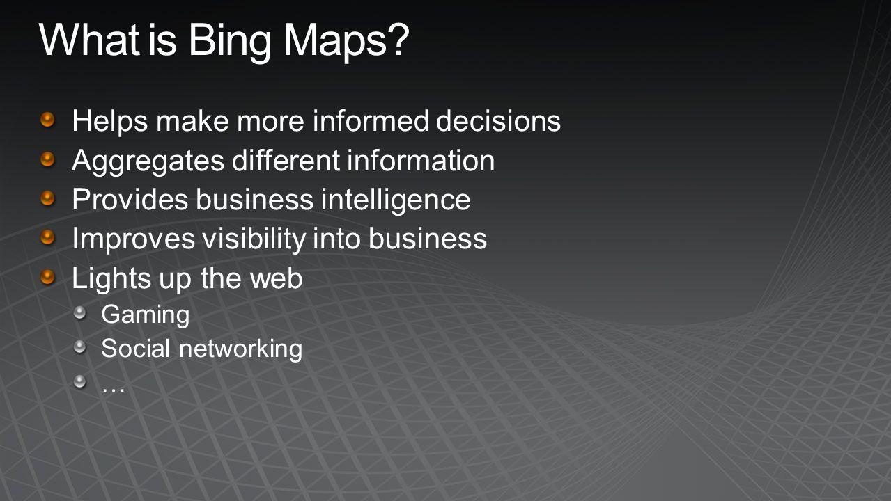 SharePoint 2010 Bing Maps SharePoint Online SQL Server 2008 SQL