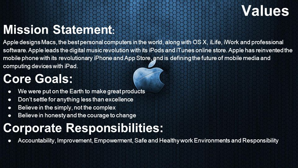 apple store mission statement