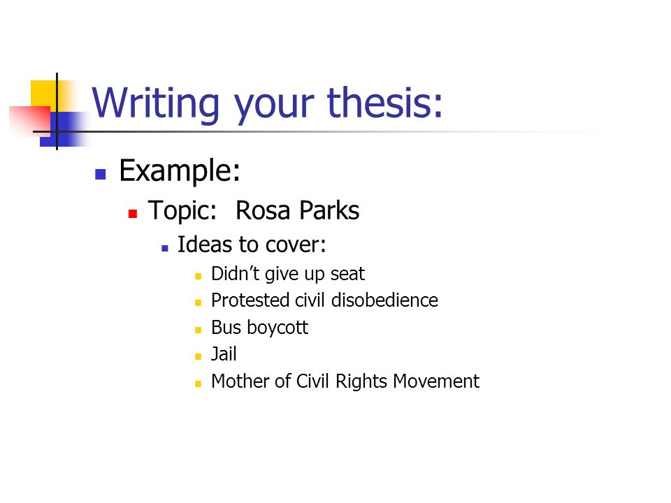 your thesis project Have all components of your thesis proposal prepared and organized get your grand project  when you graduate from school one of the main things you should work on is your thesis if you browse the web, you'll find a lot of samples available but in order to get prepared for writing a thesis proposal, consider the following writing tip.