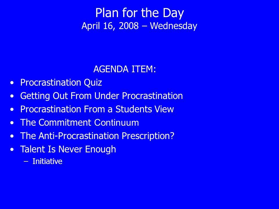 procrastination quiz