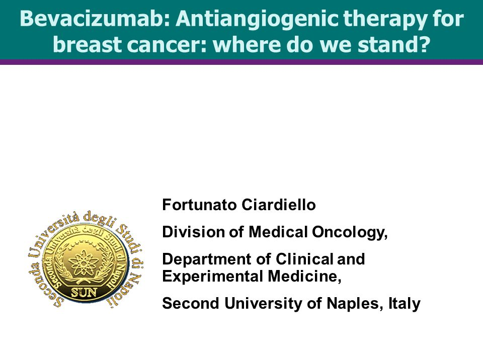 Bevacizumab: Antiangiogenic therapy for breast cancer: where do we stand.
