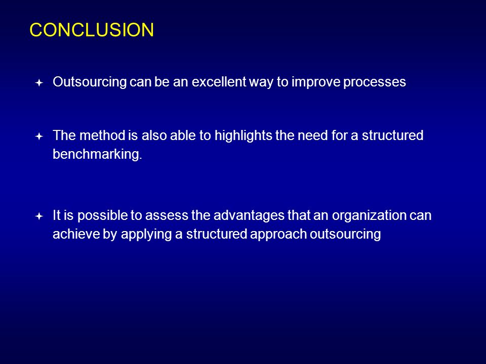 conclusion of outsourcing
