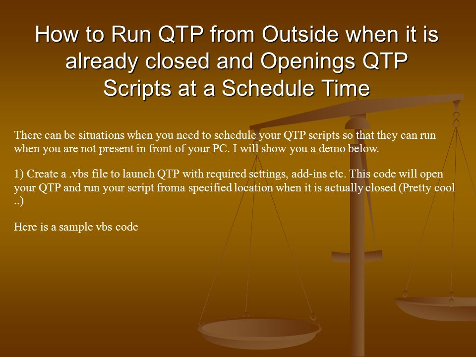Programming Concepts in QTP With some Basic Examples  - ppt