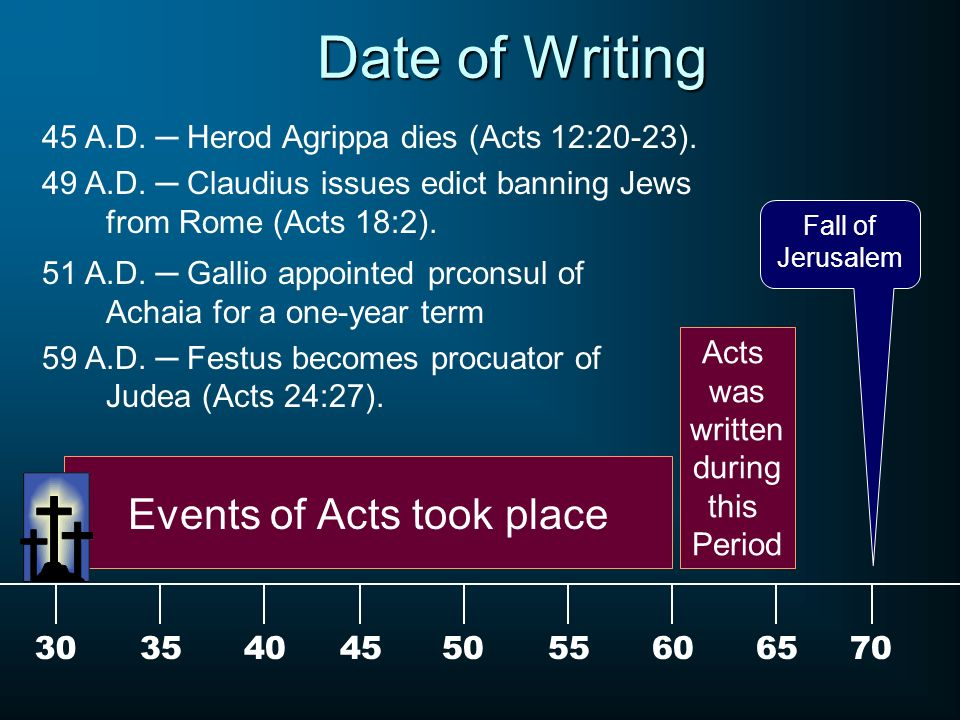 Acts of john dating