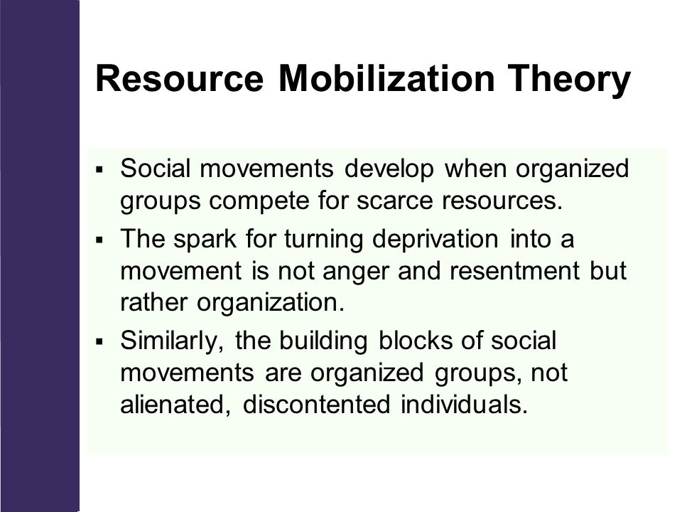 what is resource mobilization theory