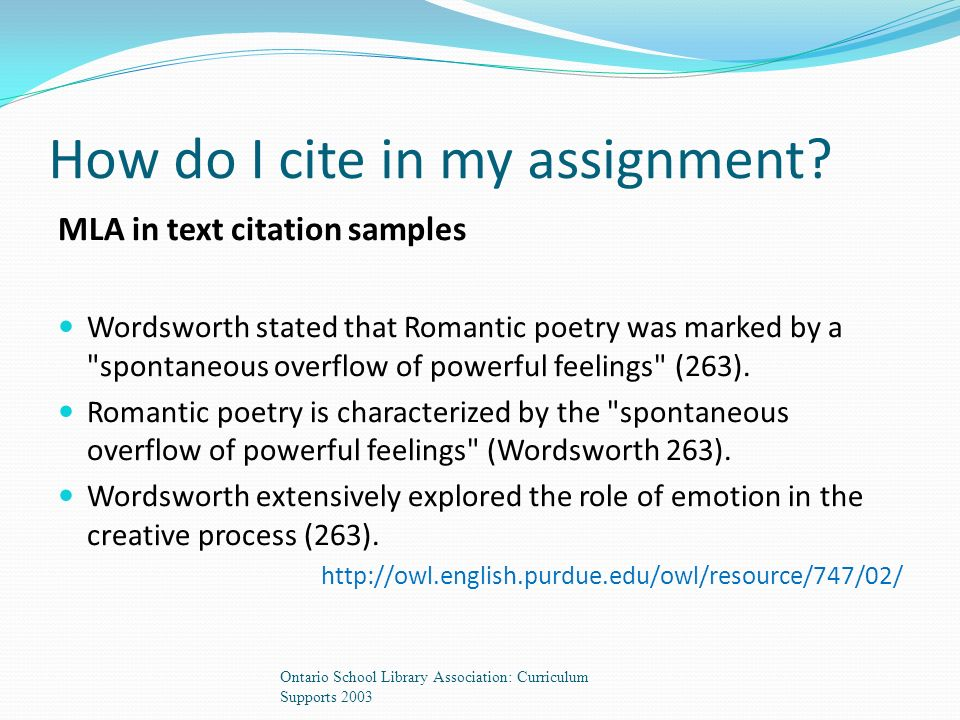 How do I cite in my assignment.