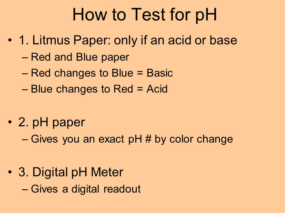 How to Test for pH 1.