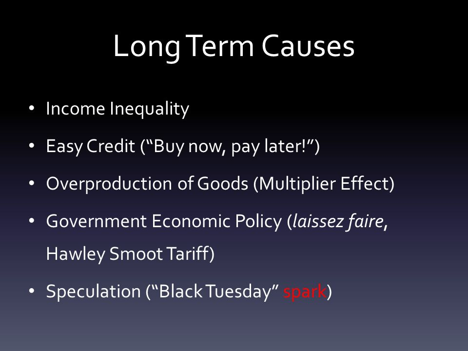 What Were The Causes And Effects Of The Great Depression Long Term