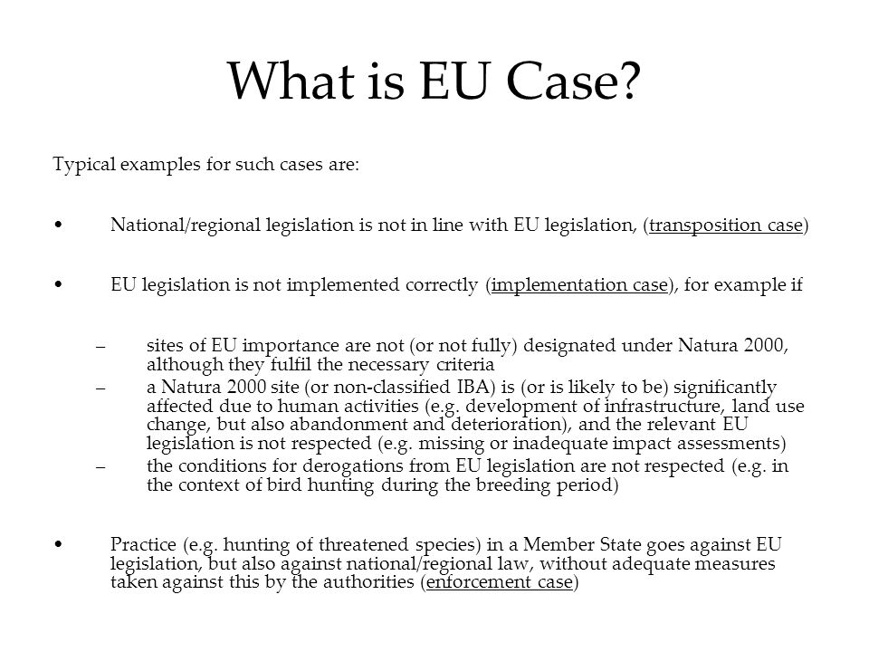 What is EU Case.