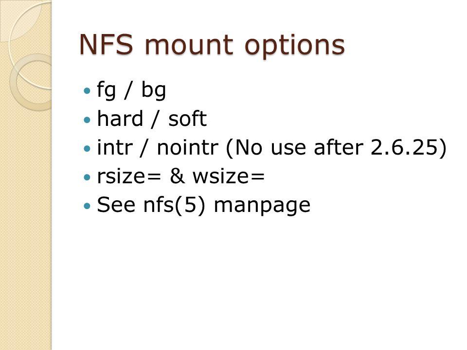 System Administration NFS & Web Servers  NFS SERVER  - ppt