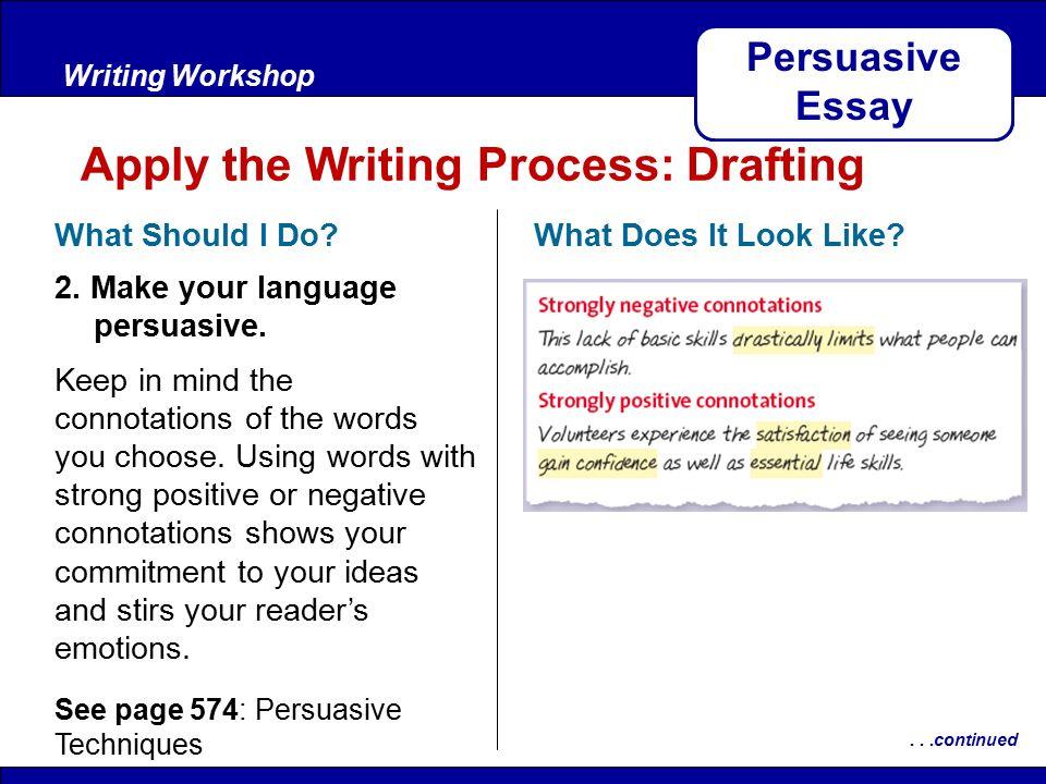 After Reading KEY TRAITS Writing Workshop Persuasive Essay