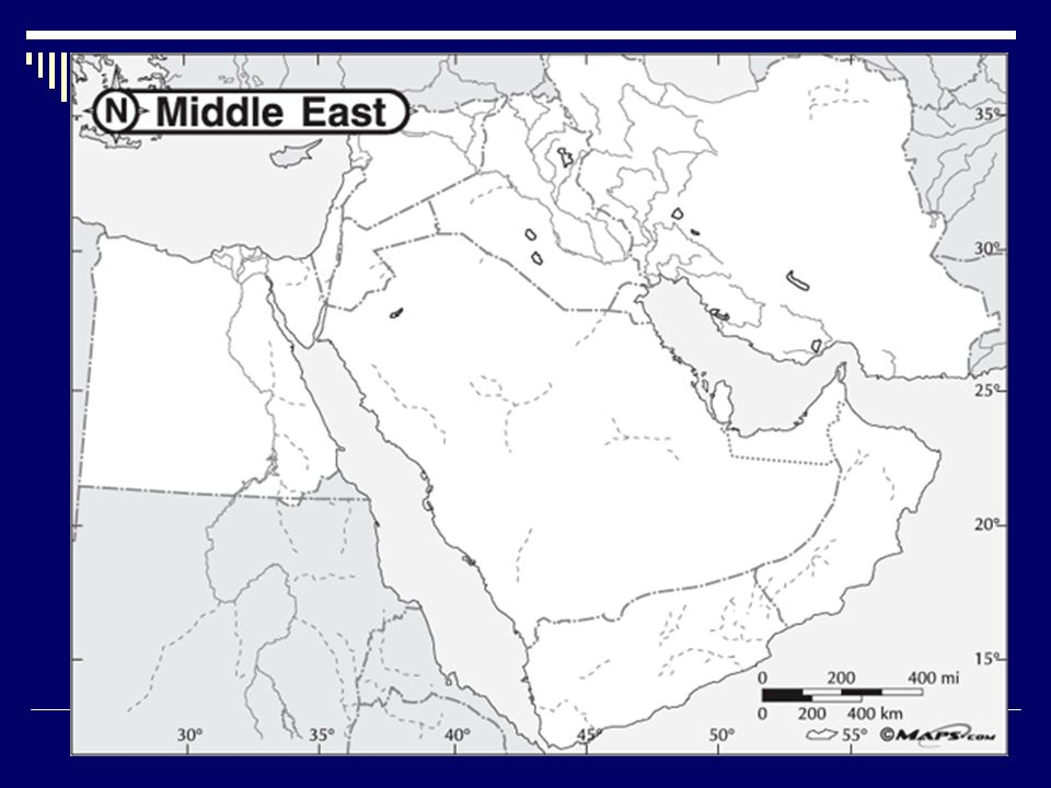 Middle East Map What are physical and political features of the ...