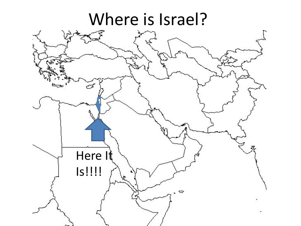 Where is Israel Here It Is!!!!