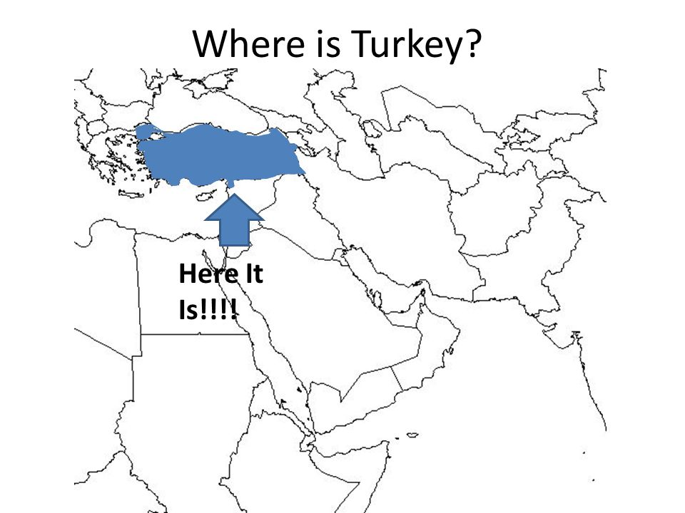 Where is Turkey Here It Is!!!!