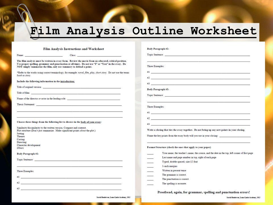 film scene analysis assignment
