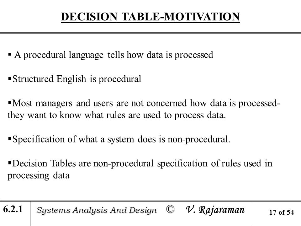 Module 6 Process Specification Systems Analysis And Design C Systems Analysis And Design C V Rajaraman Learning Units 6 1 Structured English Specification Ppt Download