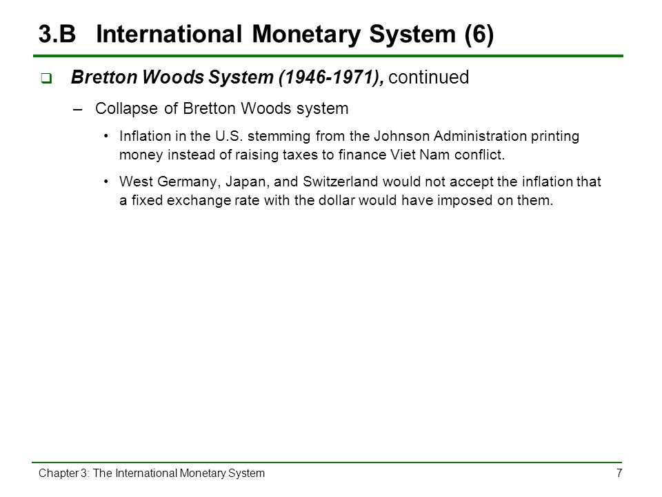 why did the bretton woods system collapse in 1971
