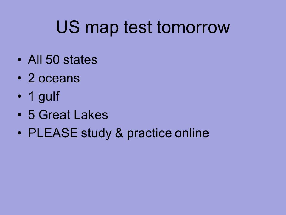 Warm Up 9214 I Did Well Or Not So Great On My Unit 1 Test - Online-us-map-test
