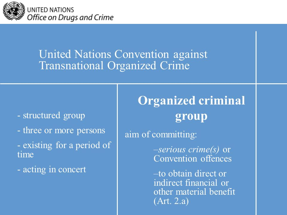 how well does social disorganization meet the criteria for organized crime and its various relations Due to its unique international character, and the powers vested in its founding charter, the it is the principal organ to coordinate the economic, social and related work of the united nations and the specialized as it is not a criminal court, it does not have a prosecutor able to initiate proceedings.