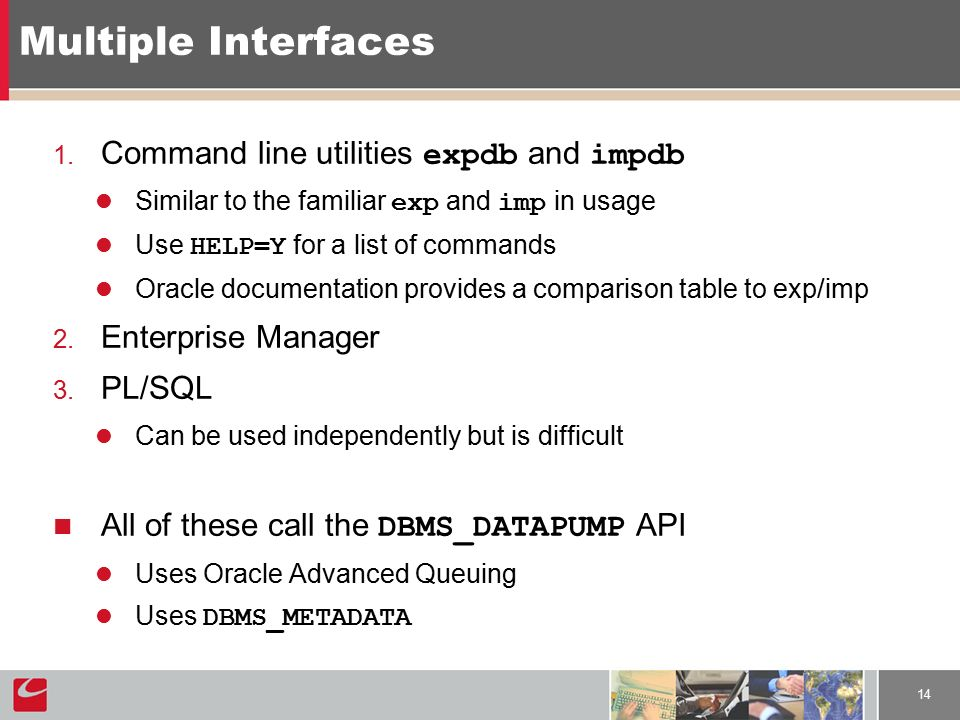 Oracle 10g Data Pump Say good bye to exp and imp (or not