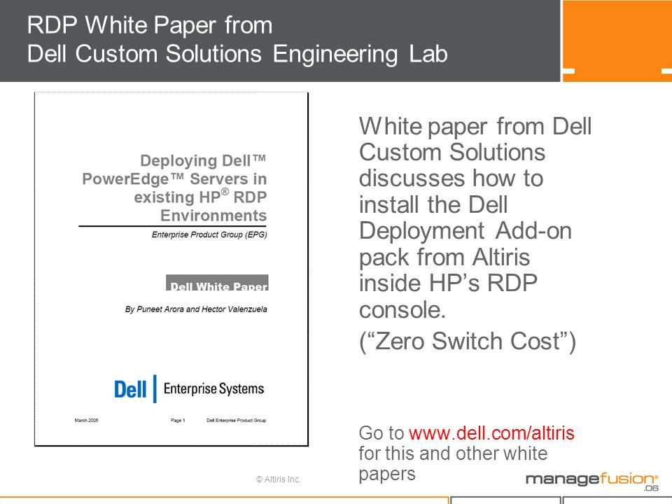Dell Server Management Suite: Deploying, Patching, Monitoring Eric