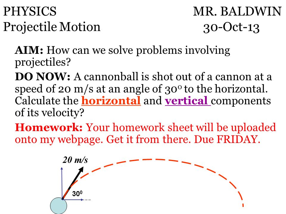 AIM: How can we solve problems involving projectiles.