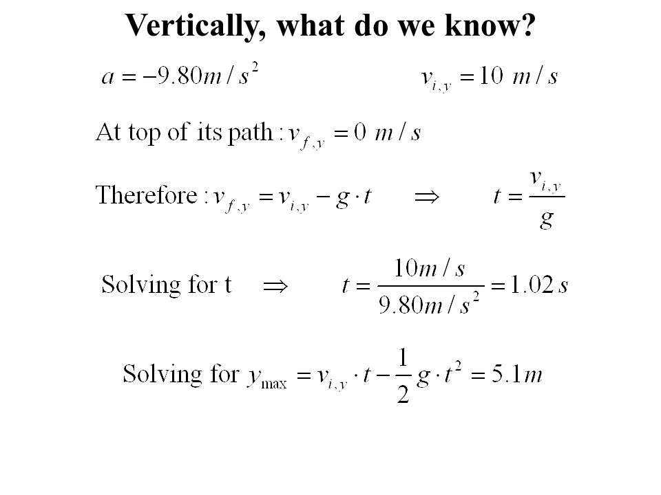 Vertically, what do we know
