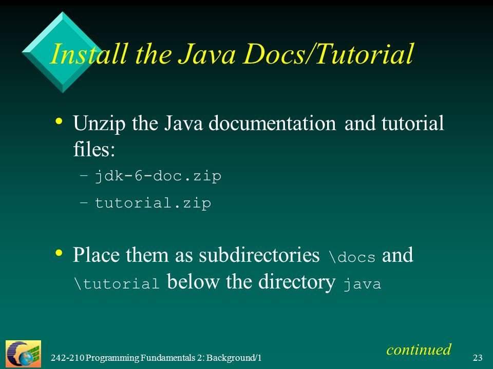 Programming Fundamentals 2: Background/ F II Objectives – –give a