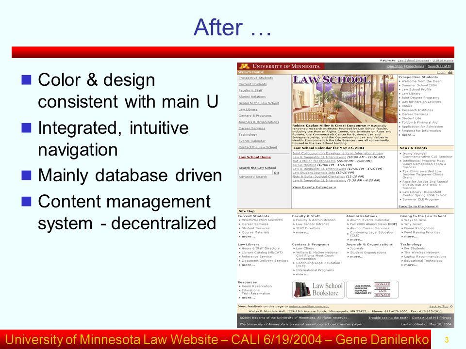 University of Minnesota Law Website – CALI 6/19/2004 – Gene