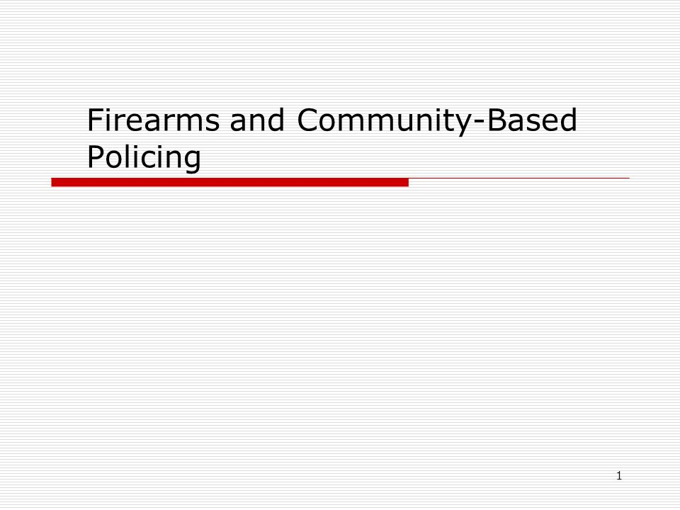 community policing statistics