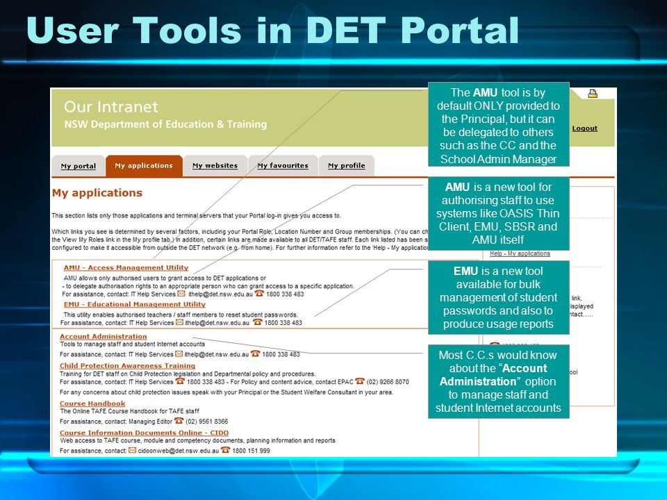 DET Portal User Management Tools …that you can use! Stu