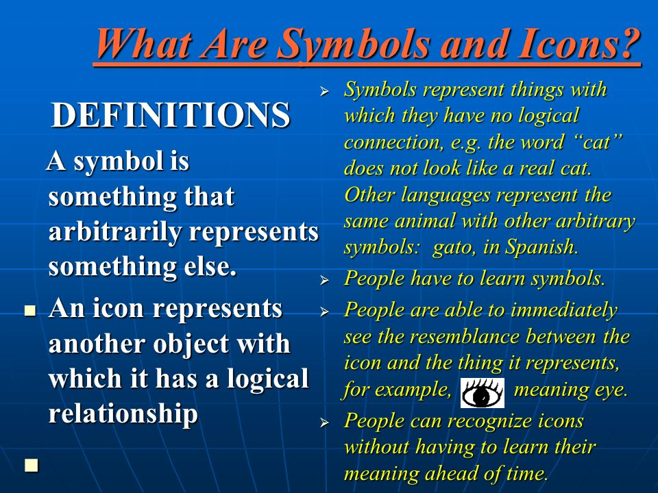 What Are Symbols and Icons.