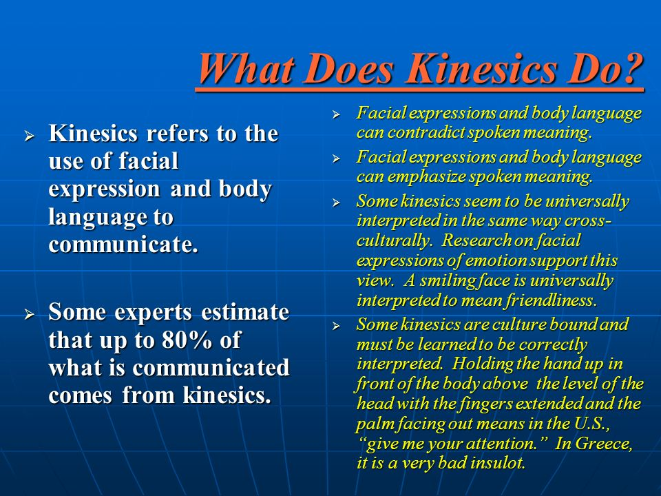 What Does Kinesics Do.
