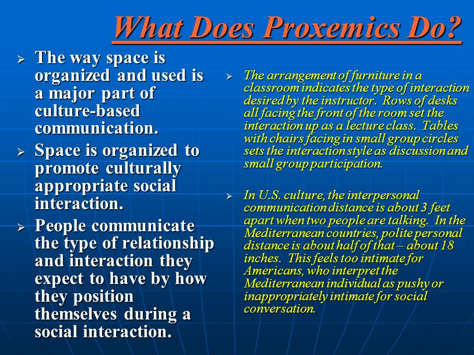What Does Proxemics Do.