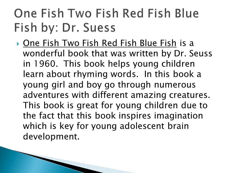 one fish two fish red fish blue fish full text