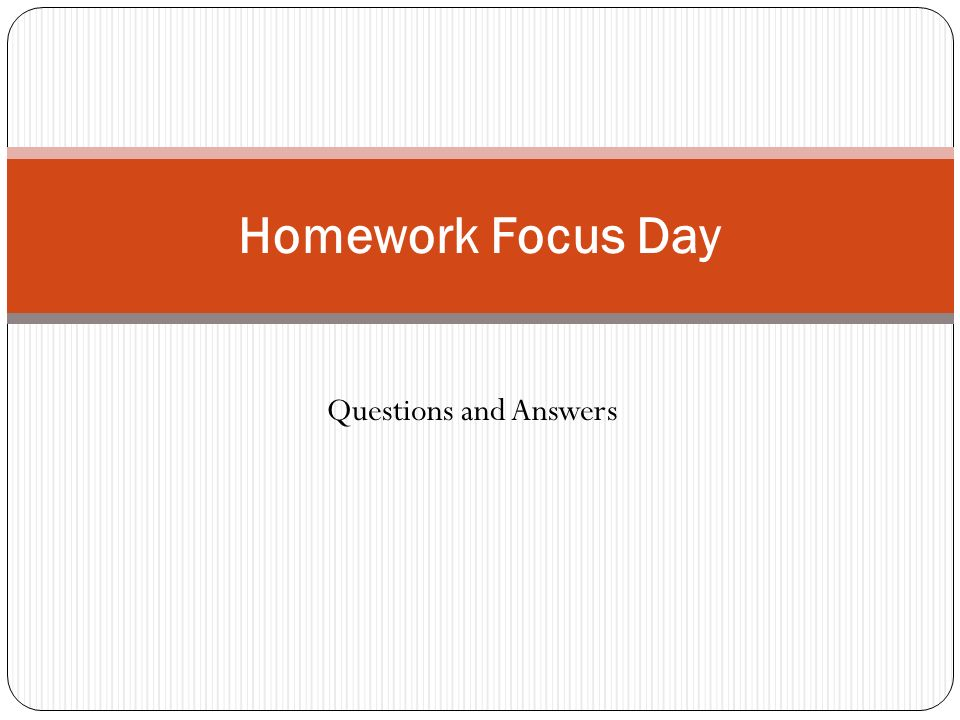 homework questions and answers